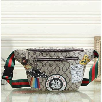 GUCCI UFO Women Leather Crossbody Satchel Waist Bag