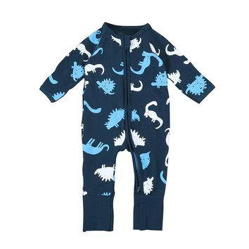 Toddler Newborn Baby romper Zipper Boys Girls Dinosaur Rompers Jumpsuit Outfits baby clothes drop shipping
