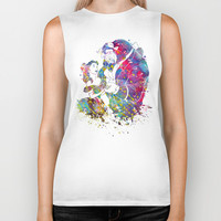 Beauty and the Beast Biker Tank by Bitter Moon