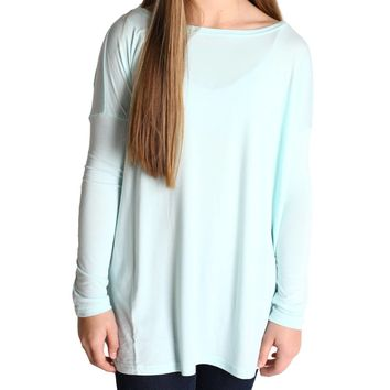 Mint Piko Kids Long Sleeve Top