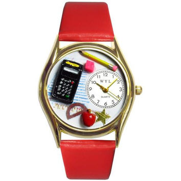 Math Teacher Watch Small Gold Style