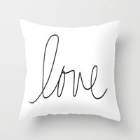 Love Throw Pillow by Sjaefashion | Society6