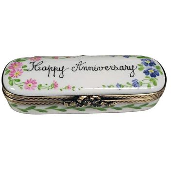 Happy Anniversary Limoges Porcelain Boxes Gifts