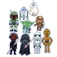 1 Card 9 figure Star War Sticker Sticker For Laptop Decal Fridge Skateboard PVC Bubble Stickers