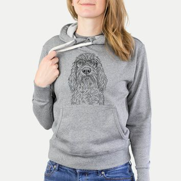 Stefano the Spinone Italiano - Grey French Terry Hooded Sweatshirt
