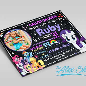 My Little Pony Rarity invitation, My Little Pony Rarity birthday, My Little Pony Rarity birthday inivtation, My Little Pony Birthday