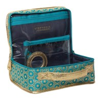 JENNY Train Case in Mumbai Turquoise Essentials by Stephanie Johnson
