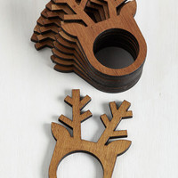 Rustic Before, During, and Antler Napkin Rings by ModCloth
