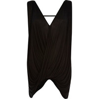 River Island Womens Black draped sleeveless top