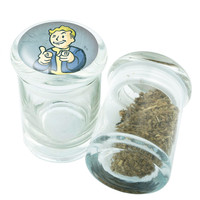 Stash Jar - Glass Pop Top - Fallout #2  - Stay Fresh Herbs 1/6 oz.