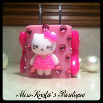 Hello Kitty iPhone 4 5 case wall charger cute kitty cat phone pink charger