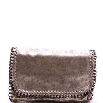 The Chain Clutch - Gold/Gunmetal