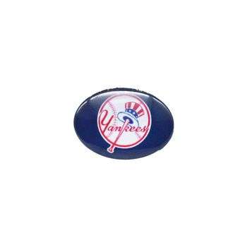 Glass Snap Button 18mmX25mm MLB New York Yankees Charms Snaps Bracelet for Women Men Baseball Fans Gift Paty Birthday 2017
