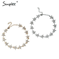 Simplee Star choker necklaces & pendants accessories Fine jewelry chain necklace Vintage chocker womens clothing accessories