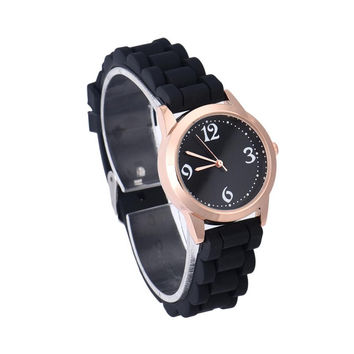 Newly Design Fashion Candy Color Small Round Jelly Watch Women Wrist Watches Sep23 Drop Shipping