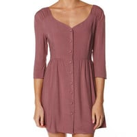 SURFSTITCH - WOMENS - DRESSES - CASUAL DRESSES - ALL ABOUT EVE MONTANA DRESS - MAUVE