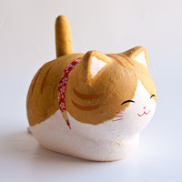 Kyoto Washi Solar Cat Prosperity Orange Tabby