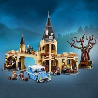 Harri Potter Series Hogwarts Whomping Willow Building Blocks 843pcs Brick Toys Compatible With Legoing Movie 75953