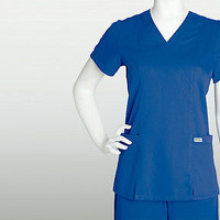 Grey's Anatomy Top 41101 New Royal Junior Fit Scrub Top For Women's