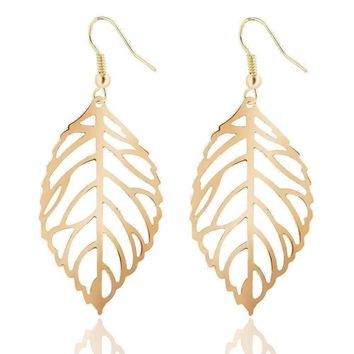 ON SALE - Seasons of Beauty Leaf Cut Out Necklace or Earrings