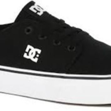 DC Trase TX Youth Shoes Skate Shoe (Little Kid/Big Kid)~ Black/White