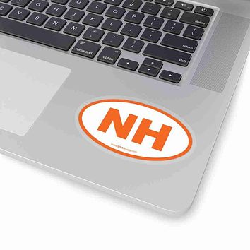 New Hampshire State Shape Sticker ORANGE