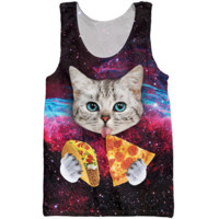 Taco and Pizza Galaxy Cat Tank