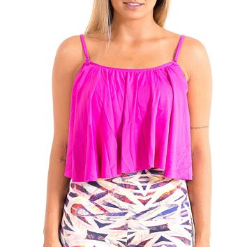 Fitness Cropped Basic - Pink