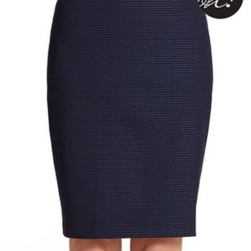 Lord & Taylor Plus Jacquard Pencil Skirt