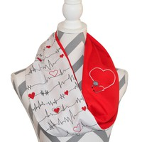 Nurse Reversible Scarf
