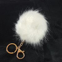 Luxury White Faux Fox Big fur Pom Pom, furry key chain, Handbag charm, Faux fox fur, pompom, keychain, keyring, purse charm, pom-pom, furry