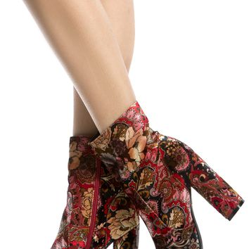 Vintage Print Faux Suede Chunky Ankle Booties @ Cicihot. Booties spell style, so if you want to show what you're made of, pick up a pair. Have fun experimenting with all we have to offer!