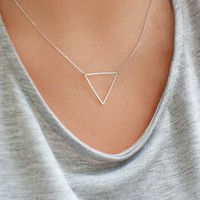 TRIFECTA NECKLACE - SILVER