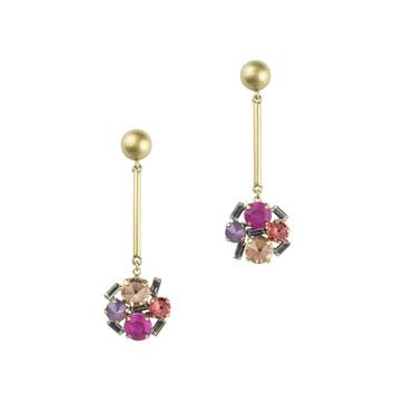 CHARLOTTE DROP EARRINGS IN PINK