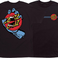 Santa Cruz Screaming Dot Tee Medium Black