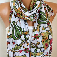 Tulip  Cotton Scarf Soft Shawl Spring Summer Scarf Cowl Oversized Wrap Gift Ideas For Her Women Fashion Accessories Mother Day Gift Scarves
