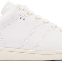 White Leather Bart Sneakers