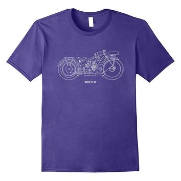Vintage Classic Motorcycle R 32 Military T Shirt Automotive