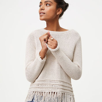 Fringe Sweater | LOFT