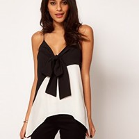 ASOS Cami With Bow Front at asos.com