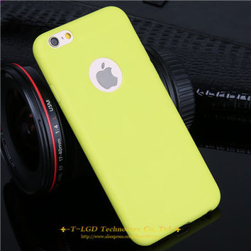 New Arrival Yellow Candy Color Case For iPhone 61 6 6s 5 5s SE 7 7 Plus