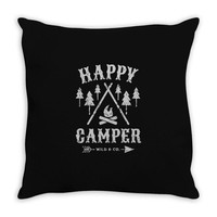 happy camping Throw Pillow