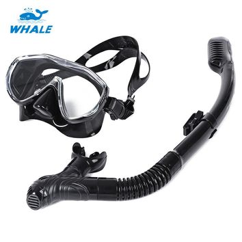 WHALE Professional Scuba Diving Mask Snorkel Glasses Set Silicone Swimming Pool Accessories