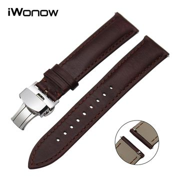 Italian Calf Genuine Leather Watchband 18mm 20mm 22mm Quick Release Watch Band Men Women Universal Strap Wrist Bracelet Brown
