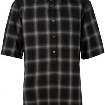 UNDERCOVER - Flannel Shirt - 04405-2 GRAY CHECK - H. Lorenzo