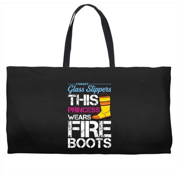 Forget Glass Slippers This Princess Wears Fire Boots Weekender Totes