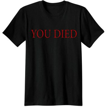dark souls Gaming T Shirts video game Men Tees T-Shirts souls you died Novelty funny Casual from software dark souls 3 T-Shirts