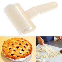 High Quality White Plastic Baking Tool Cookie Pie Pizza Pastry Lattice Roller Cutter Craft Plastic Baking Knife Tool