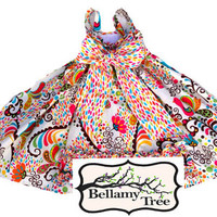 Colorful Full Girls Twirl Halter Dress Halter   from Bellamy Tree