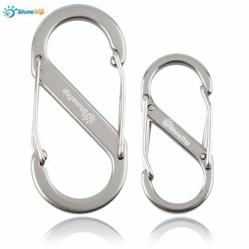 ShineTrip 1pcs 8-type Metal Keychain Buckle Survival Gear Hook Carabiner Travel Kit free shipping